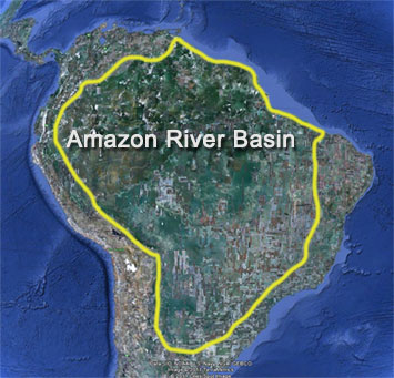 Amazon River Greatest River - Where is the amazon river