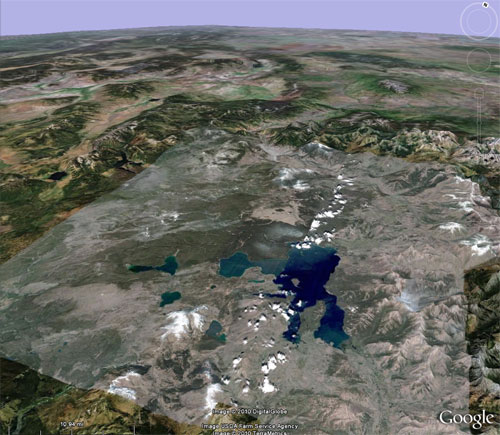 3-D Map of Yellowstone Caldera