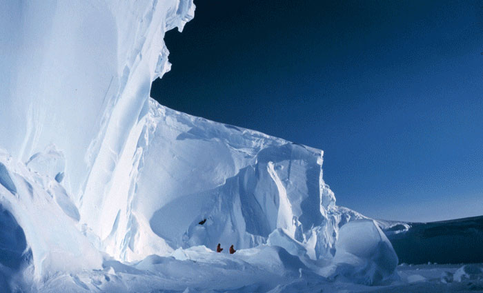 Photo of the Ross Ice Shelf in Antarctica