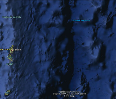ocean trench bathymetry