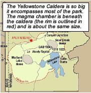 Caldera Volcanoes - Calderas in the us map